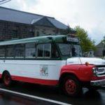 小樽ボンネット定期観光バスと小樽市総合博物館(旧手宮・交通記念館)