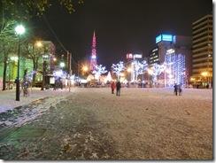 雪まつり後の大通公園で歩くスキーコースがお目見え、雪解けまでの空白期間にイベントが登場
