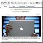 MacユーザーはWindowsユーザーよりも30%高いホテルに泊まる?